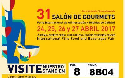 gstock en la 31ª edición del Salón de Gourmets (Madrid – 24 al 27 de abril de 2017)
