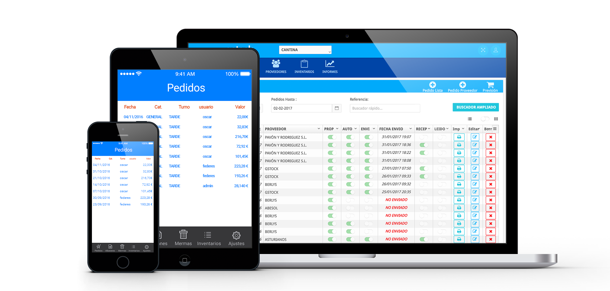 Gstock is an app for purchasing management for restaurants